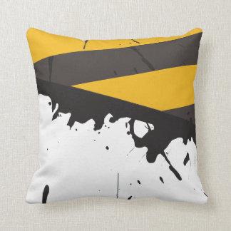 Bio Hazard Caution Tape Crime Couch Throw Pillow