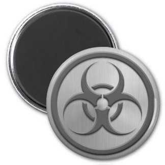 Bio Hazard Circle with Stainless Steel Effect Magnet