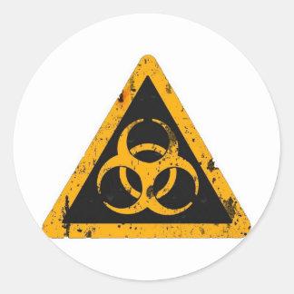 Bio Hazard Classic Round Sticker
