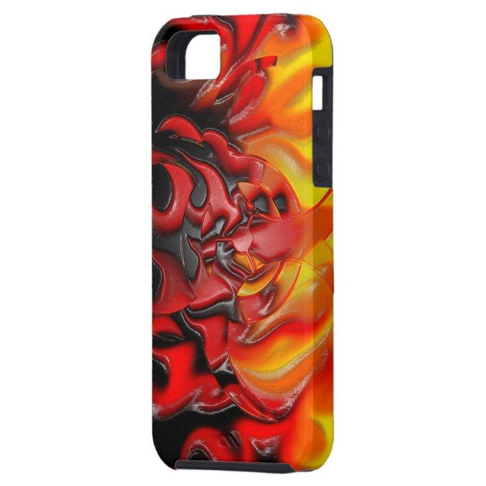 Bio Hazard Flames iPhone 5 Case-Mate Tough iPhone SE/5/5s Case