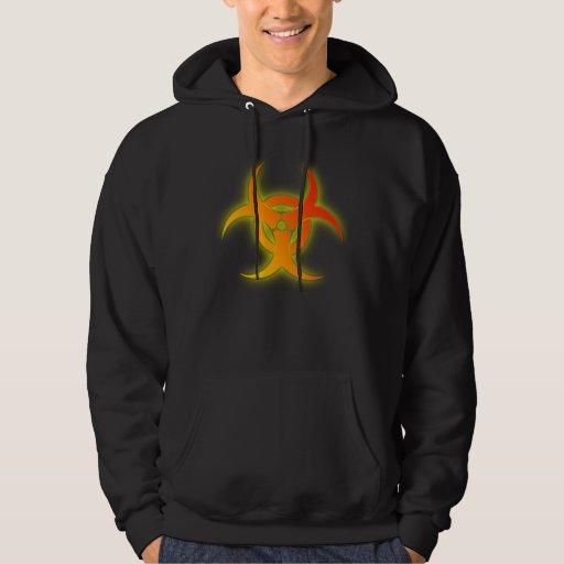 Bio Hazard Funny Hoodie Shirt Humor