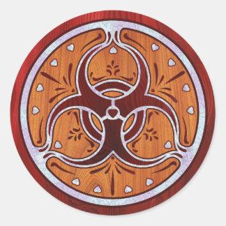 Bio Hazard Inlay II Round Stickers