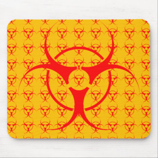 Bio-hazard Mousepad Biohazard Warning Mouse Pad