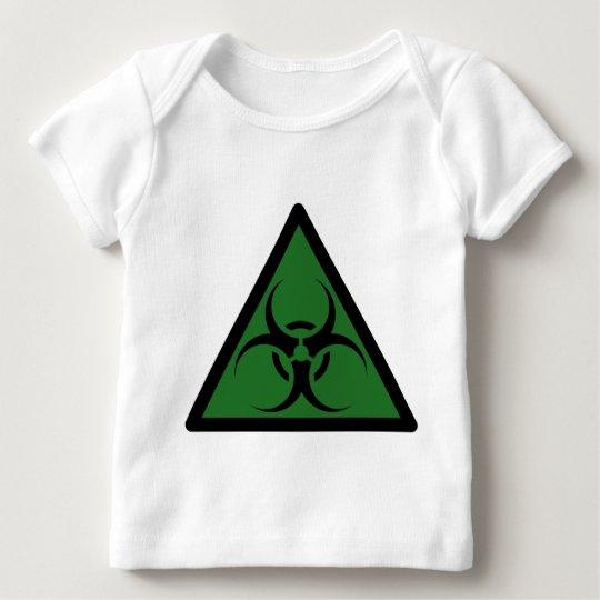 Bio Hazard or Biohazard Sign Symbol Warning Baby T-Shirt