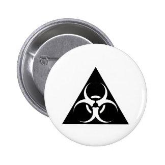 Bio Hazard or Biohazard Sign Symbol Warning Black Pin