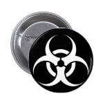 Bio Hazard or Biohazard Sign Symbol Warning Black Pins