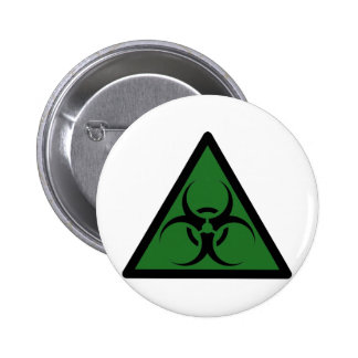 Bio Hazard or Biohazard Sign Symbol Warning Buttons