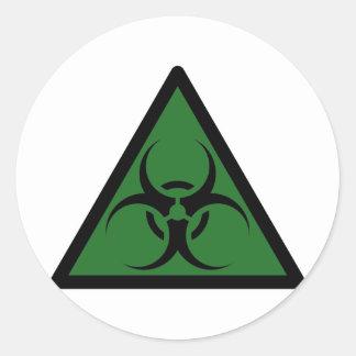 Bio Hazard or Biohazard Sign Symbol Warning Classic Round Sticker