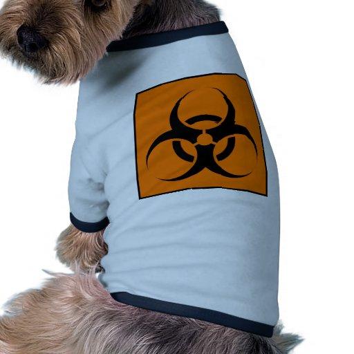Bio Hazard or Biohazard Sign Symbol Warning Orange Doggie Tshirt