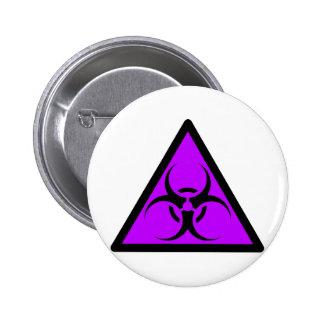 Bio Hazard or Biohazard Sign Symbol Warning Purple Pin