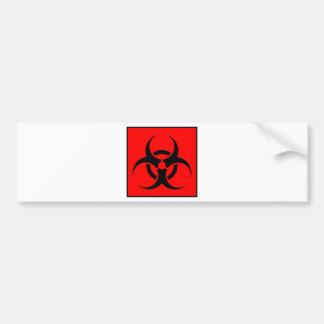 Bio Hazard or Biohazard Sign Symbol Warning Red Car Bumper Sticker