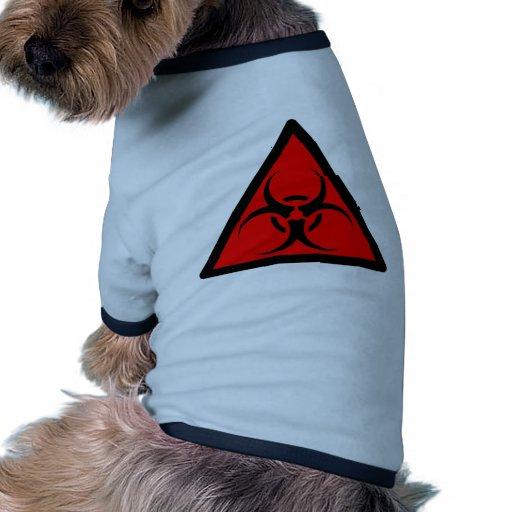 Bio Hazard or Biohazard Sign Symbol Warning Red Dog Clothing