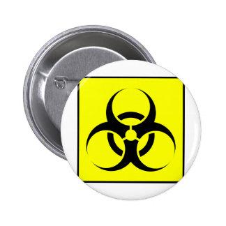 Bio Hazard or Biohazard Sign Symbol Warning Yellow Buttons