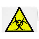 Bio Hazard or Biohazard Sign Symbol Warning Yellow Card