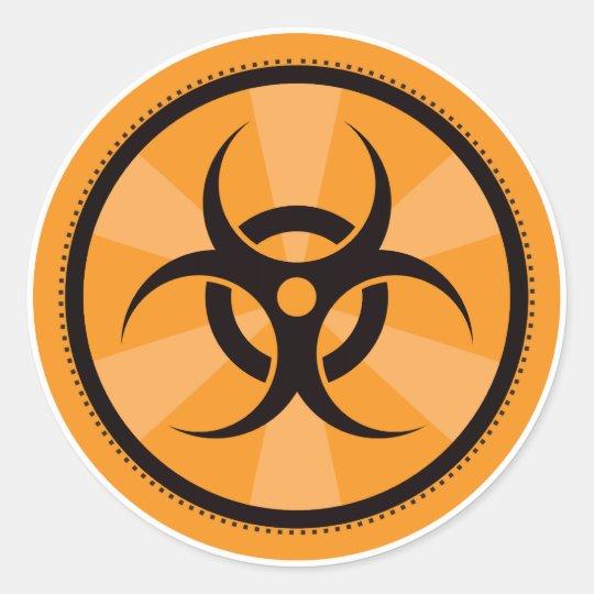 Bio-Hazard - Orange Classic Round Sticker
