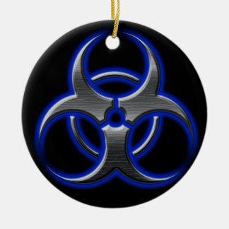 Bio-Hazard Ornament Blue