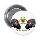 Bio hazard pinback button