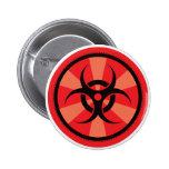 Bio-Hazard - Red 2 Inch Round Button