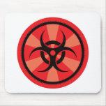Bio-Hazard - Red Mouse Mat