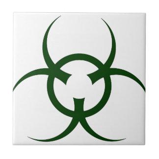 Bio Hazard Symbol Ceramic Tile
