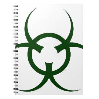Bio Hazard Symbol Spiral Notebook