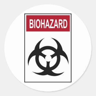 Bio Hazard Vintage Sign Classic Round Sticker