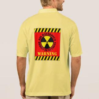 Bio Hazardous Bodily Functions Warning Polo T-shirt