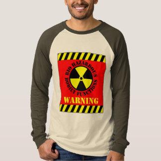 Bio Hazardous Bodily Functions Warning Tee Shirt
