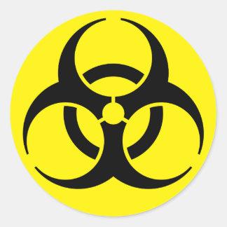 Bio Hazardous Classic Round Sticker