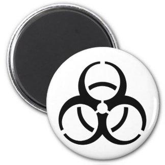 ¡Bio icono del peligro! Imán Redondo 5 Cm