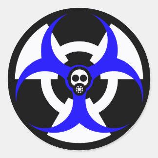 bio-nuclear hazard 2 classic round sticker