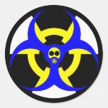 bio-nuclear hazard 5 round sticker