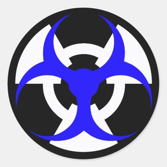 bio-nuclear hazard classic round sticker