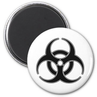 Bio peligro imán redondo 5 cm