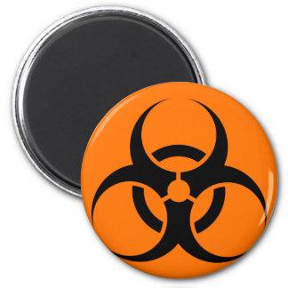 Bio peligro o naranja amonestador del símbolo de l imanes