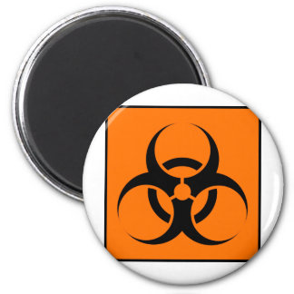 Bio peligro o naranja amonestador del símbolo de l imán para frigorifico