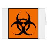 Bio peligro o naranja amonestador del símbolo de l tarjeta