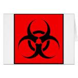 Bio peligro o rojo de cuidado del símbolo de la mu tarjetas