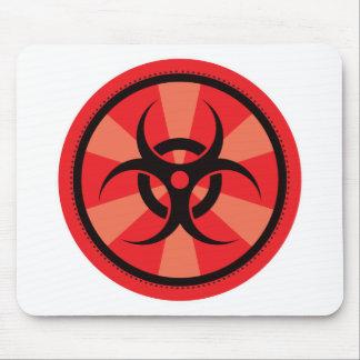 Bio-Peligro - rojo Mouse Pads