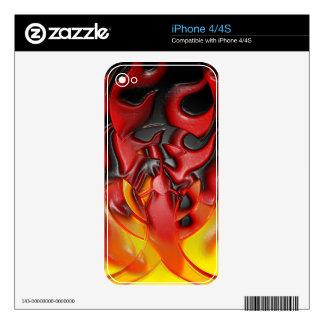 Bio piel del iPhone 4/4S de las llamas Skin Para El iPhone 4