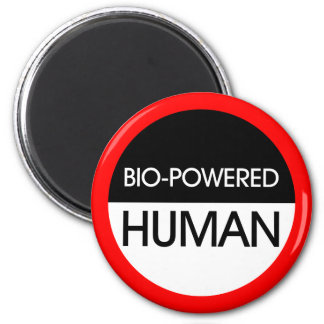 Bio-Powered Human 2 Inch Round Magnet