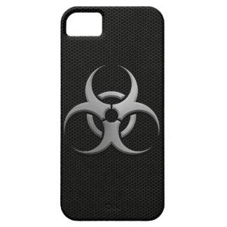 Bio símbolo industrial del peligro con el efecto d iPhone 5 funda