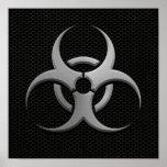 Bio símbolo industrial del peligro con el efecto d posters