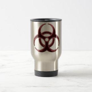 Bio símbolo oxidado del peligro taza