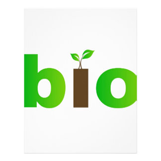 Bio text symbol of eco friendly concept letterhead