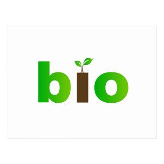 Bio text symbol of eco friendly concept postcard