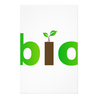 Bio text symbol of eco friendly concept stationery
