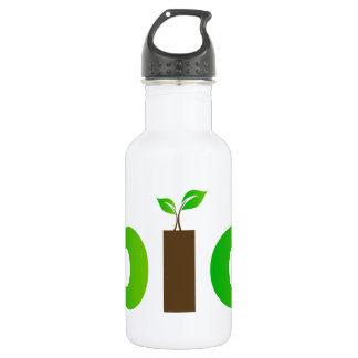 Bio text symbol of eco friendly concept water bottle