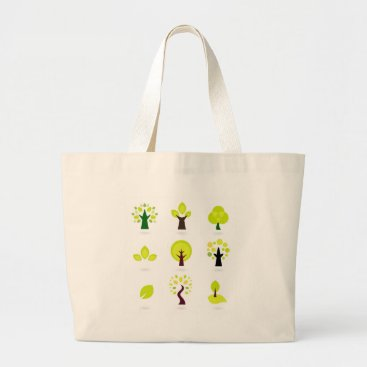 Professional Business Bio trees original drawing : Tshirts Large Tote Bag