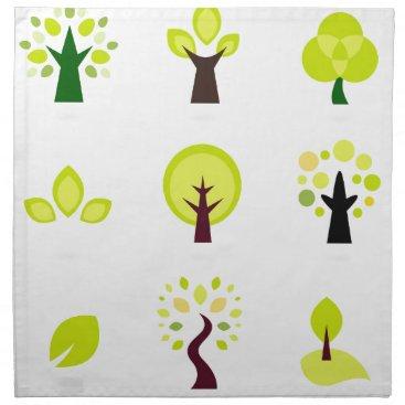Professional Business Bio trees original drawing : Tshirts Napkin